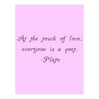 Citationstecken för Plato kärlekPoet Vykort