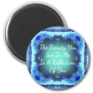 Citationstecken för reflexion för skönhet för magnet