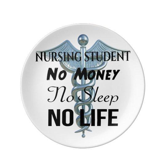 Citationstecken för sjuksköterska för porslinstallrik