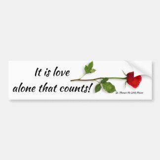 Citationstecken för St. Therese på kärlek Bildekal