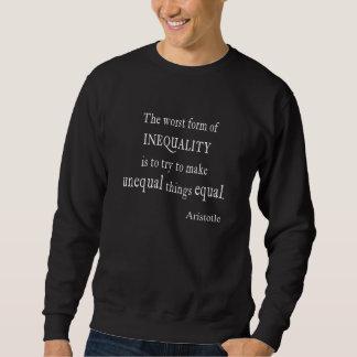 Citationstecken för svart för jämställdhet för lång ärmad tröja