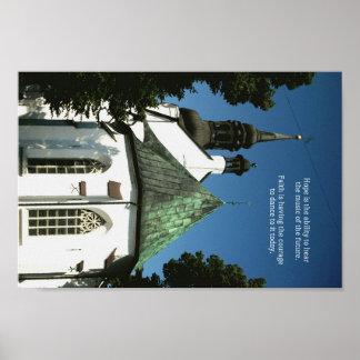 """Citationstecken """"för tro för hopp"""" för kyrka för poster"""