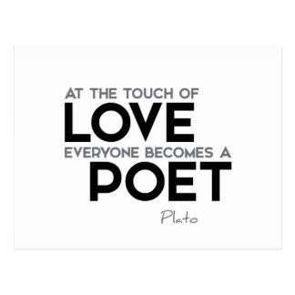 CITATIONSTECKEN: Plato: Handlag av kärlek: poet Vykort