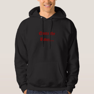 Citera det korpsvart… hoodie