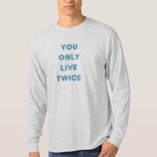 Citera dig bor endast två gånger blått t shirt
