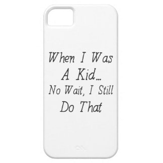 Citera om nostalgi, då jag var en rolig unge - iPhone 5 fodral