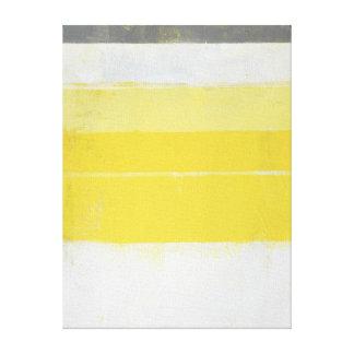 """""""Citric"""" abstrakt konst för grå färg och för gult Canvastryck"""