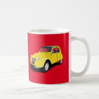 Citroën 2CV gult - diy mugg