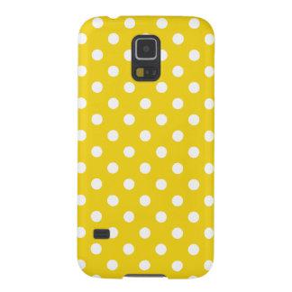 Citron - den gula polkaen pricker mönster galaxy s5 fodral