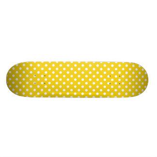 Citron - den gula polkaen pricker mönster skateboard bräda 19,5 cm