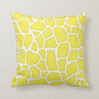 Citron - djurt tryck för gul giraff kudde