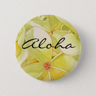 Citron - gul Frangipani Aloha Standard Knapp Rund 5.7 Cm