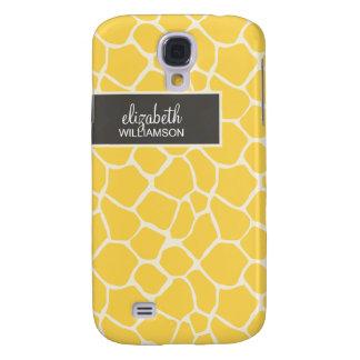 Citron - gul giraff Pern Galaxy S4 Fodral