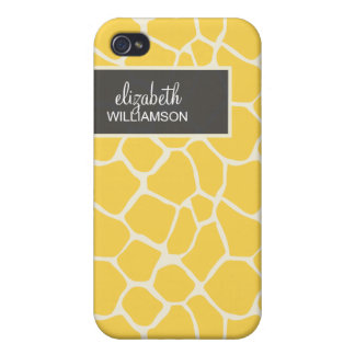 Citron - gul giraff Pern iPhone 4 Fodral