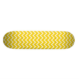 Citron - gul sicksacksparre skateboard bräda 21,5 cm