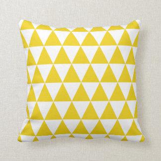 Citron - gul triangeldekorativ kudde