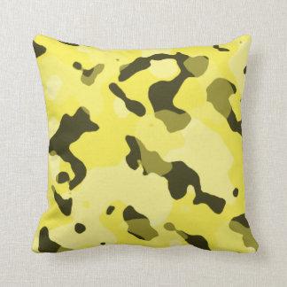Citron - gula Camo; Kamouflage Kudde