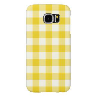 Citron - gult fodral för Ginghamgalax S6 Galaxy S5 Fodral