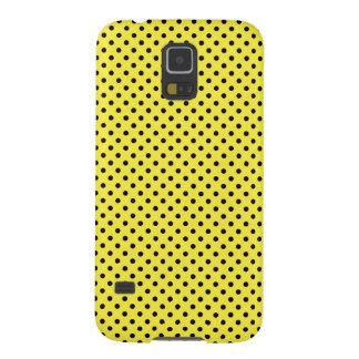 Citron - gult med svart polka dots galaxy s5 fodral