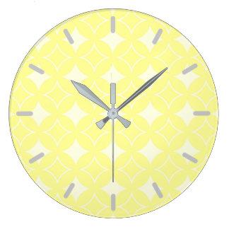 Citron - gult shippomönster stor klocka