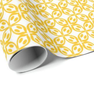 Citron - gult tryck presentpapper