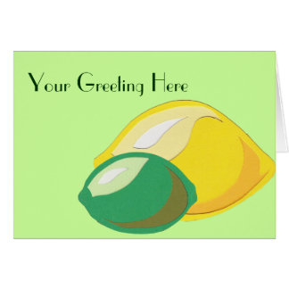 Citron-Limefrukt hälsningkort Hälsningskort