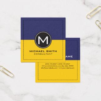Citron och Koamaru för Monogram elegant modern Fyrkantigt Visitkort