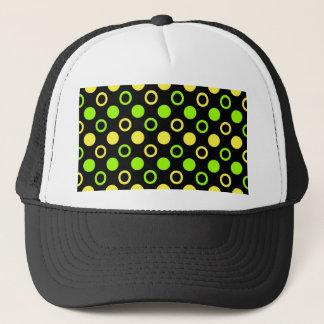 Citron och limefruktringar och polka dots vid keps