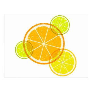 Citron/orange Vykort