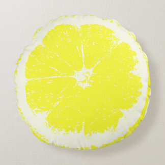 Citron Rund Kudde