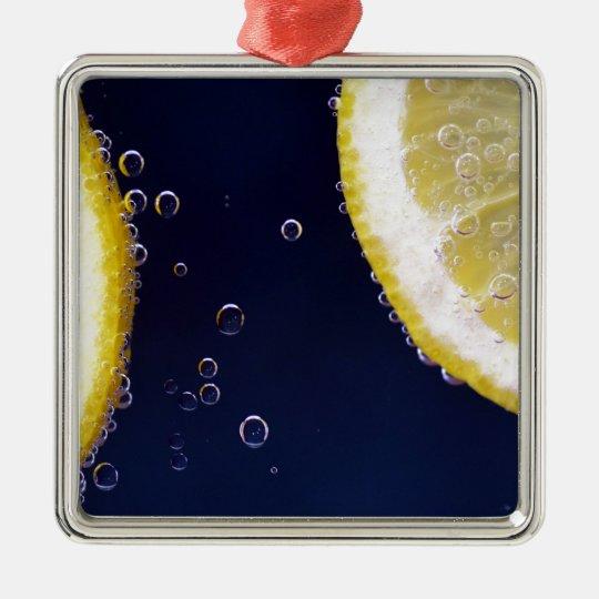 Citron Silverfärgad Fyrkantigt Julgransprydnad