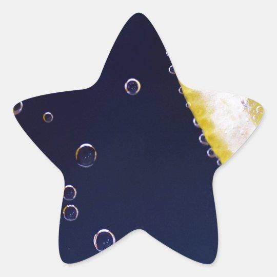 Citron Stjärnformat Klistermärke