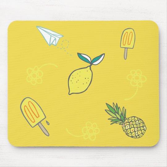 Citronaktig godhet för sommar musmattor