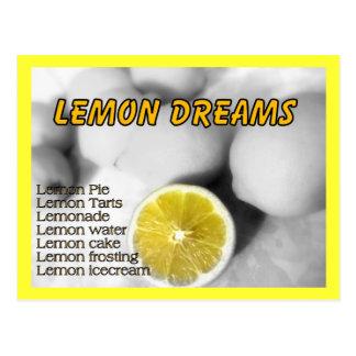 Citronen drömm vykortet vykort