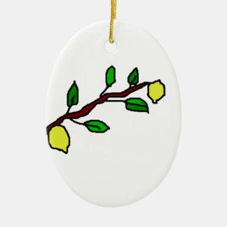 citronen fattar julgransprydnad keramik