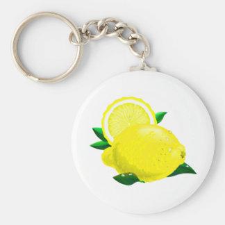 Citronen tappar rund nyckelring