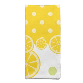 Citroner och gula Polkadots Tygservett