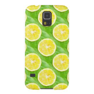Citroner på löv galaxy s5 fodral