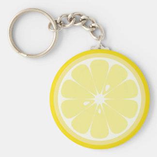 Citronskiva Rund Nyckelring