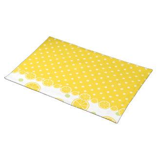 Citronskivor och gula Polkadots Bordstablett
