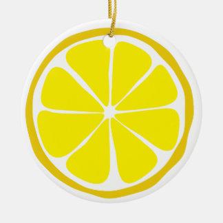 Citrus citronprydnad för sommar julgransprydnad keramik