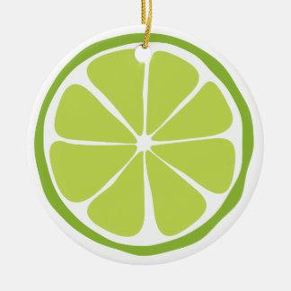 Citrus limefruktprydnad för sommar julgransprydnad keramik
