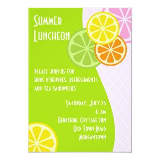 Citrus sommarLuncheon 12,7 X 17,8 Cm Inbjudningskort