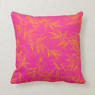 Citrusa rosa- och orangeblommor kudde