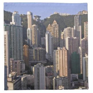 Cityscape av Hong Kong, china Tygservett