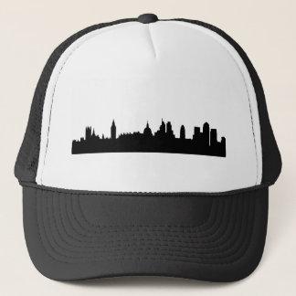 Cityscape för London horisontsilhouette Keps