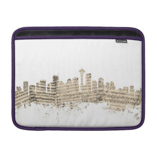 Cityscape för Seattle Washington horisontnotblad MacBook Air Sleeve