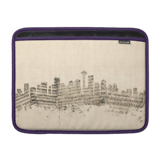 Cityscape för Seattle Washington horisontnotblad MacBook Sleeve