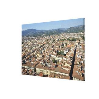 Cityscape från bästa av cupolaen av duomoen Santa Canvastryck