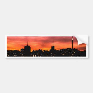Cityscapesolnedgångplats, Montevideo, Uruguay Bildekal